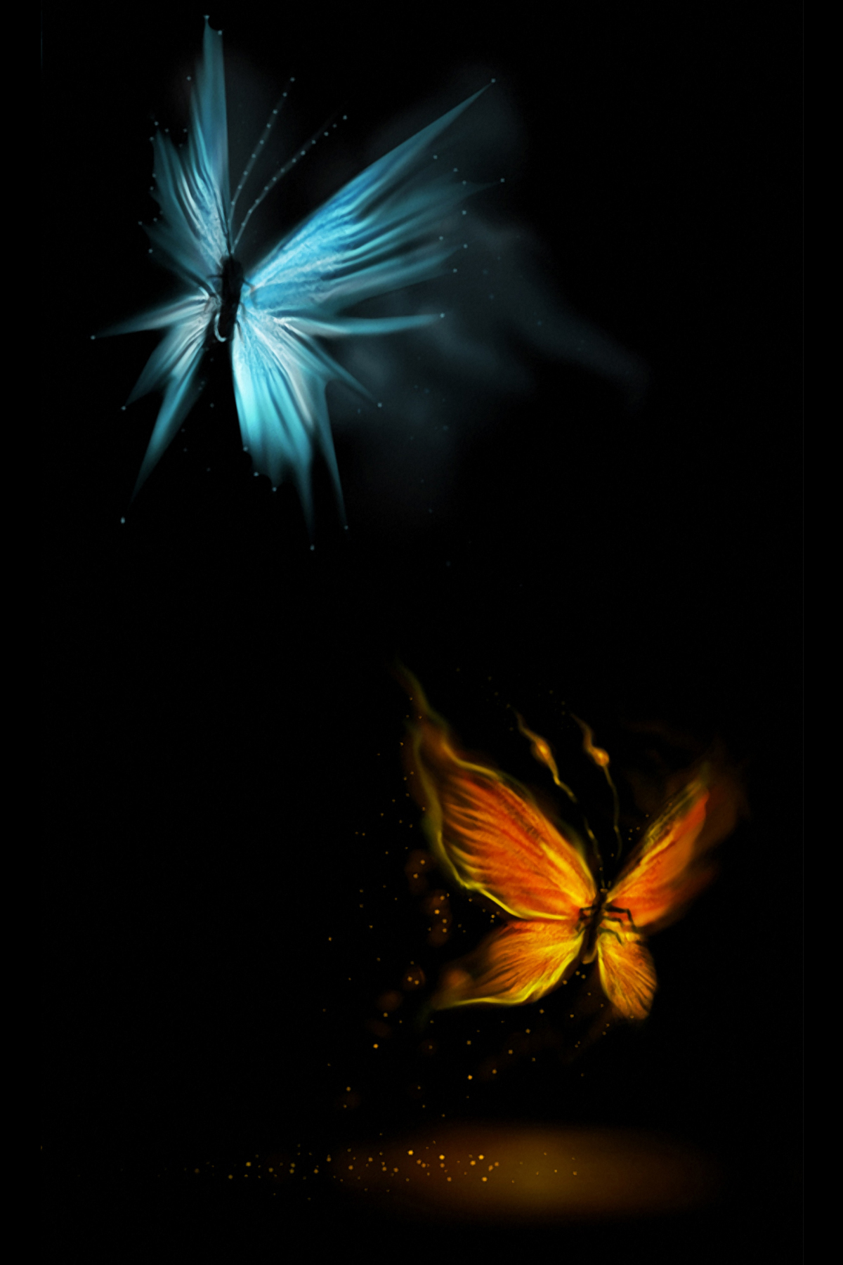beautiful glowing butterflies android wallpaper download your screen size 1024 x 1024 recommended download original
