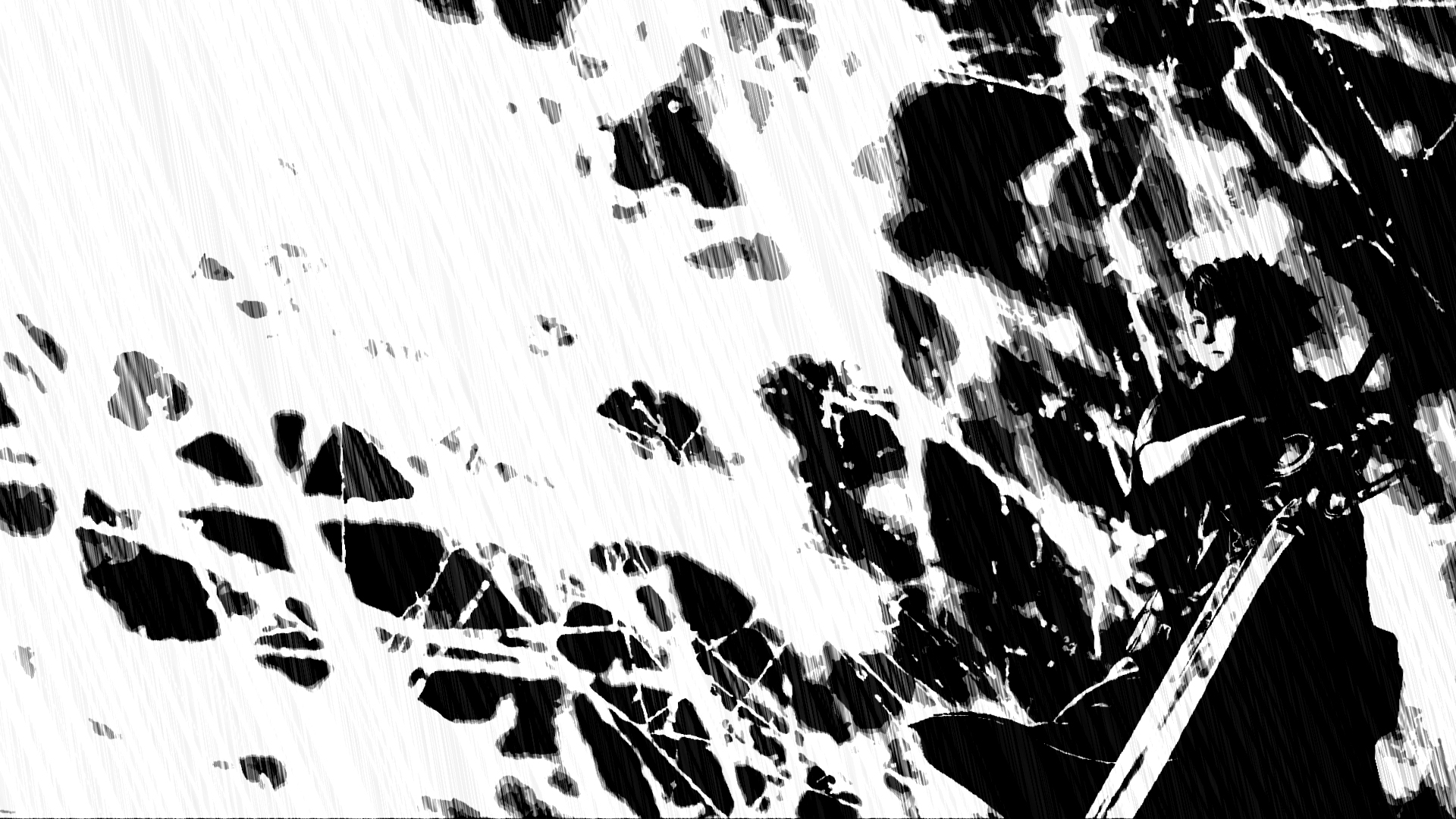 Black And White Abstract 2 Android Wallpaper