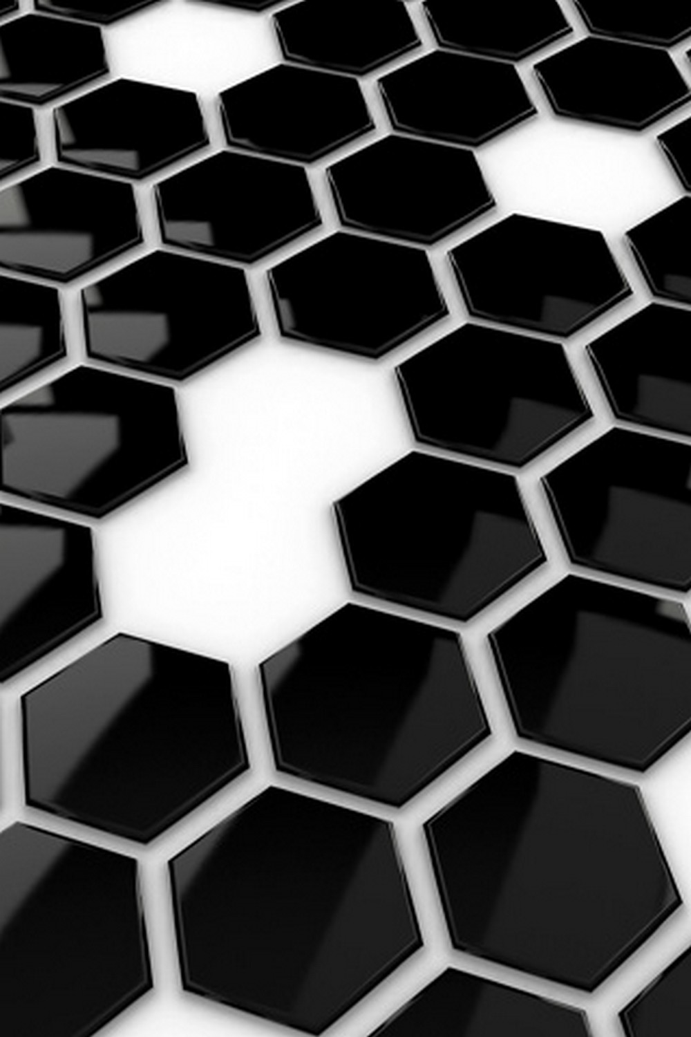 Black hive tiles android wallpaper for Black 3d tiles wallpaper