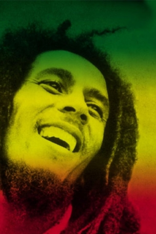 Bob Marley Rasta Colours Android Wallpaper