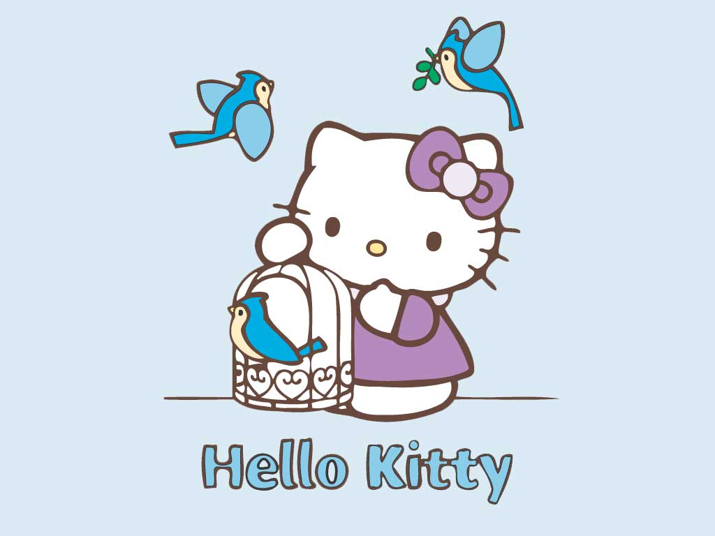 Best Wallpaper Hello Kitty Turquoise - hello-kitty-blue-birds  Snapshot_46484.jpg