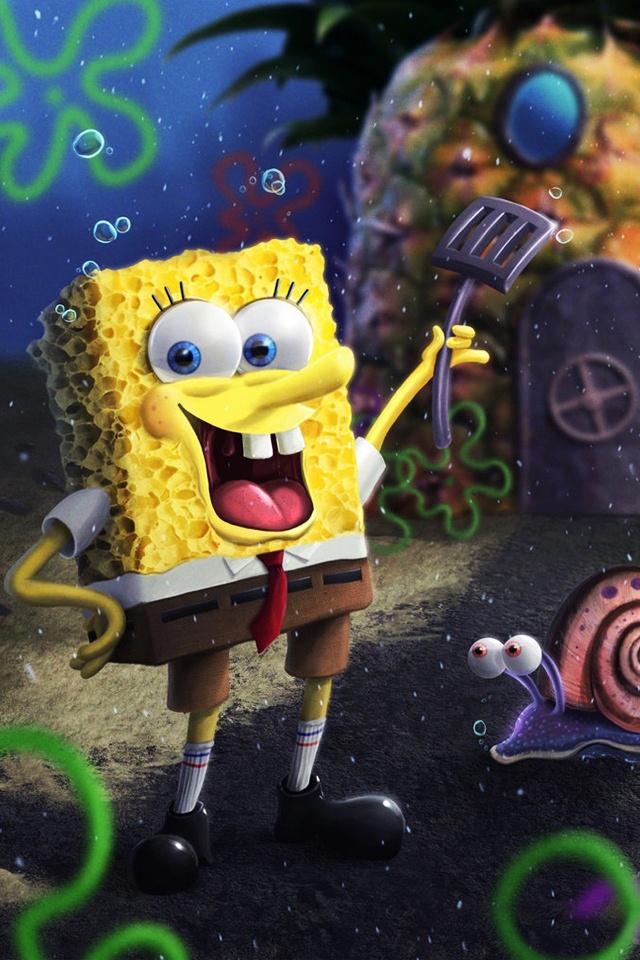 Spongebob 3D Android Wallpaper. Spongebob 3D Android Wallpaper