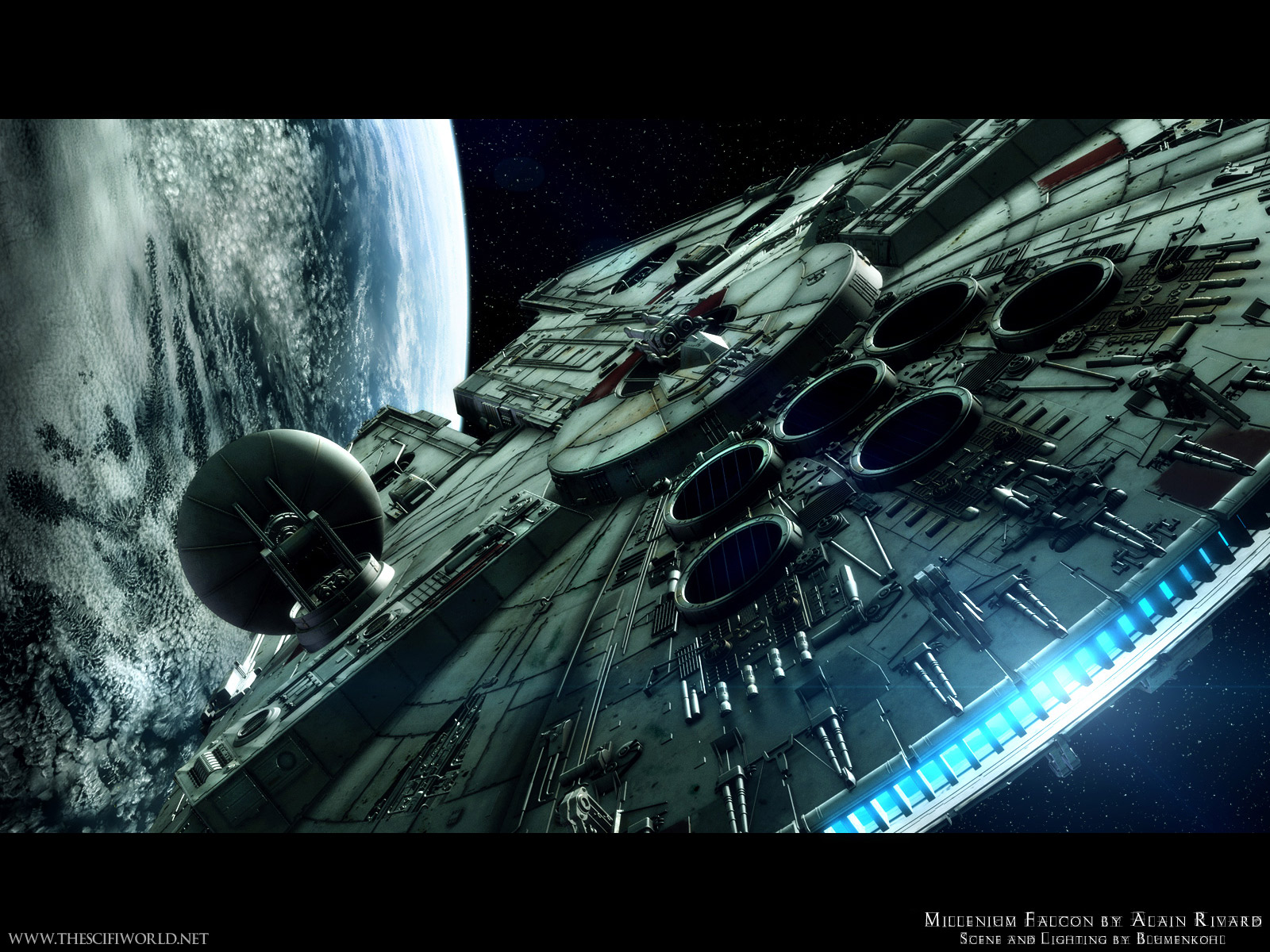 star wars millenium falcon by alain rivard android wallpaper star wars millenium falcon by alain rivard android wallpaper
