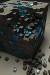 Minecraft 3D Cube Android Wallpaper