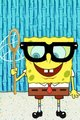 Spongebob Nerdy Glasses And Net android wallpaper