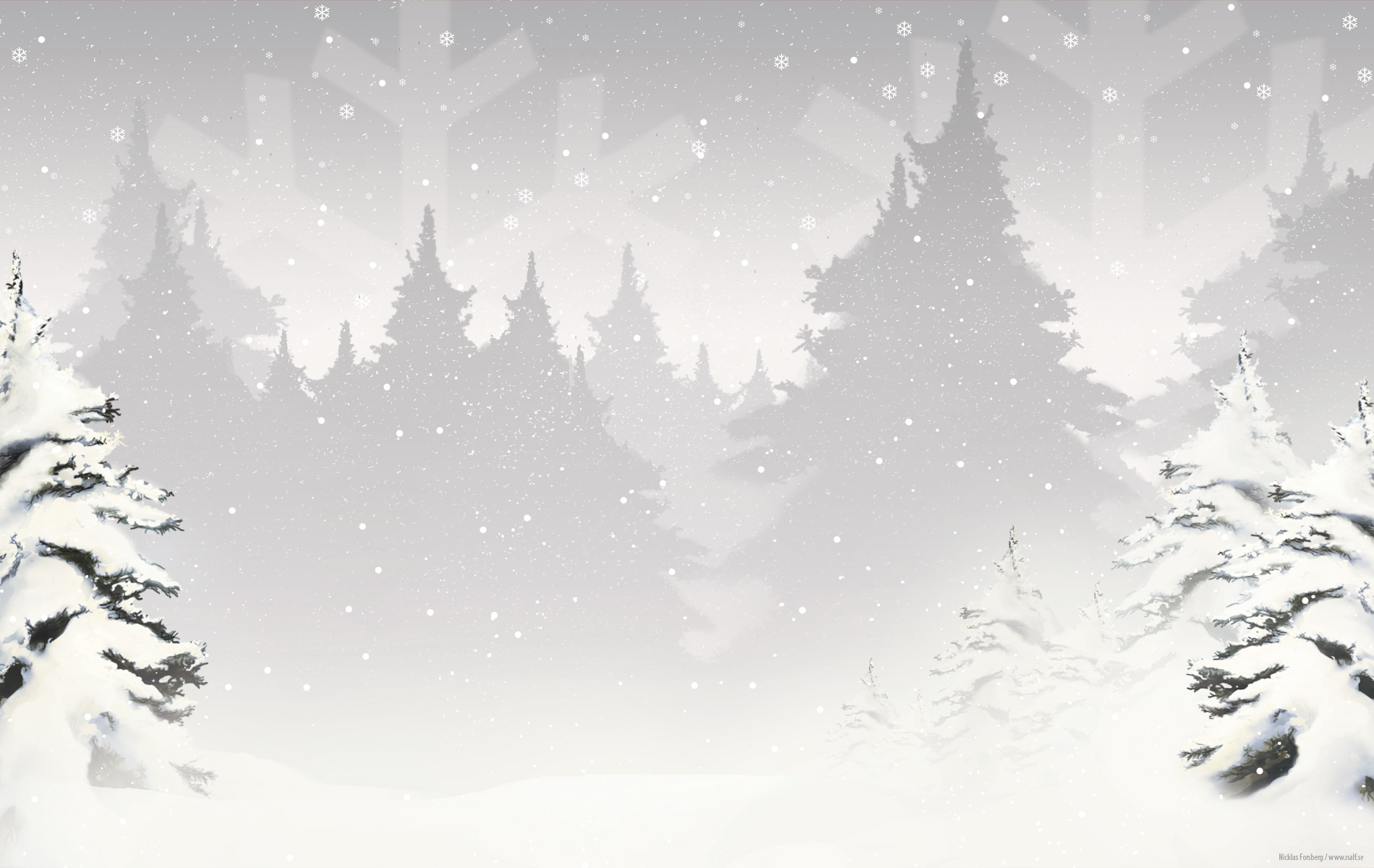 Winter Black And White Android Wallpaper