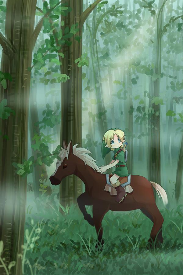 Zelda Cartoon Link Horse Android Wallpaper