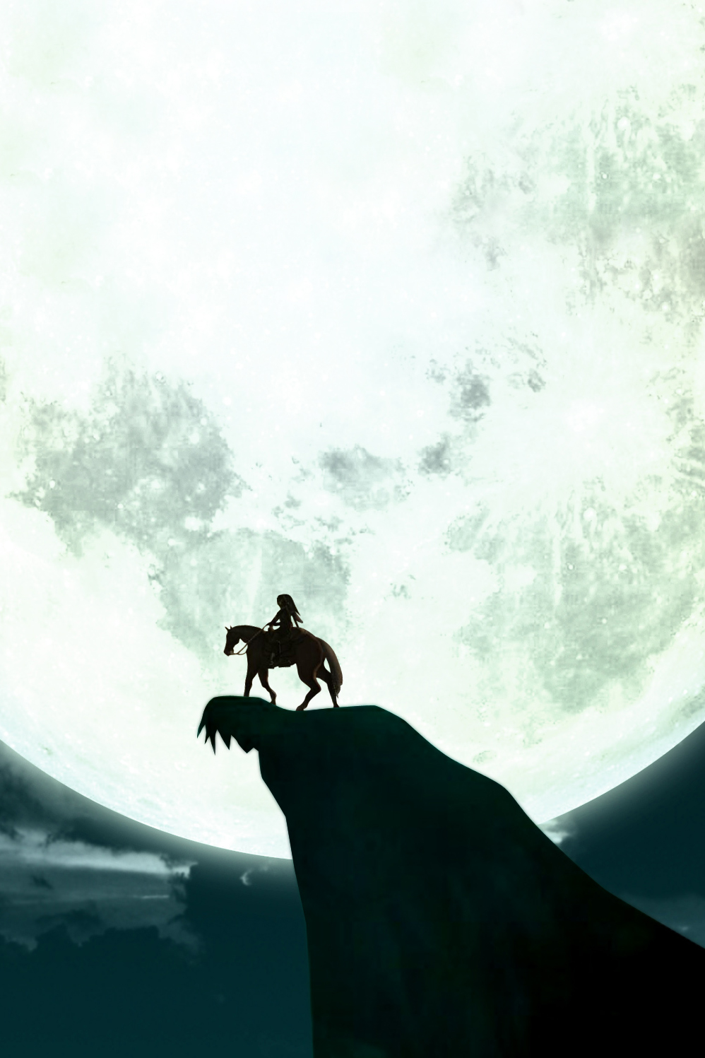 Zelda Horse Silhouette Android Wallpaper
